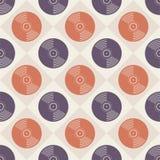 Modèle sans couture de disques vinyle Fond sans fin de musique Type créateur Rétros couleurs illustration stock