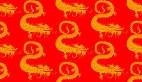 Modèle sans couture de dragons Photos libres de droits