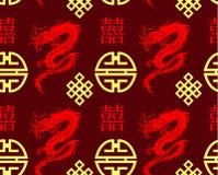 Modèle sans couture de dragons Images stock