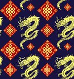 Modèle sans couture de dragons Image stock