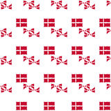 Modèle sans couture de drapeau danois Photo stock