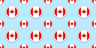 Modèle sans couture de drapeau de rond du Canada Fond canadien Icônes de cercle de vecteur Symboles géométriques Texture pour des illustration de vecteur