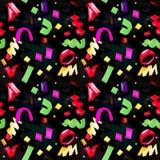 Modèle sans couture de fête avec les confettis multicolores illustration libre de droits