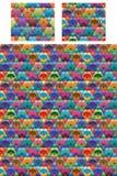 Modèle sans couture de fan colorée de triangle d'hexagone illustration de vecteur