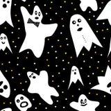 Modèle sans couture de fantôme image stock