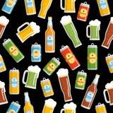 Modèle sans couture de festival de bière Photos libres de droits