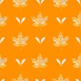 Modèle sans couture de feuille d'érable de couleur Photos stock