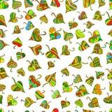Modèle sans couture de feuilles décoratives multicolores et lumineuses, ethnique Image stock