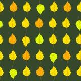 Modèle sans couture de feuilles d'automne Image libre de droits