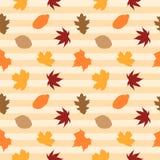 Modèle sans couture 07 de feuilles d'automne Images libres de droits