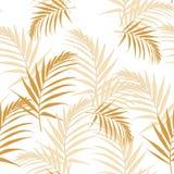 Modèle sans couture de feuilles jaunes abstraites tropicales avec des feuilles Belles feuilles d'isolement tropicales illustration libre de droits