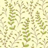 Modèle sans couture de feuilles lunatiques Photo stock