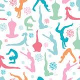 Modèle sans couture de filles de forme physique de séance d'entraînement d'amusement Photo stock