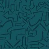 Modèle sans couture de flèche Image libre de droits