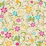 Modèle sans couture de fleur de papillon - illustration Photographie stock