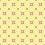 Modèle sans couture de fleur (jaune) Images libres de droits