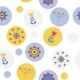 Modèle sans couture de fleur mignonne abstraite de fond Image stock