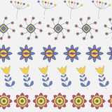 Modèle sans couture de fleur mignonne abstraite de fond Photos stock