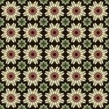 Modèle sans couture de fleur (noir) Images stock