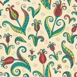 Modèle sans couture de fleurs de tulipes illustration libre de droits