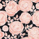Modèle sans couture de fleurs roses élégantes de concept Photo libre de droits