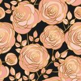 Modèle sans couture de fleurs roses élégantes de luxe Image stock