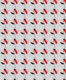 Modèle sans couture de fleurs rouges de résumé avec Grey Background illustration stock