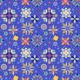 Modèle sans couture de flocon de neige floral Photographie stock libre de droits