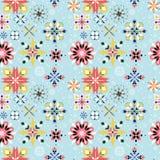 Modèle sans couture de flocon de neige floral Photo libre de droits