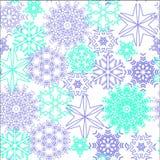 Modèle sans couture de flocons de neige Photo stock