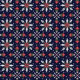 Modèle sans couture de flocons de neige de Noël Photos libres de droits