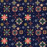 Modèle sans couture de flocons de neige de Noël Images libres de droits