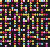 Modèle sans couture de fond de labyrinthe infini Images libres de droits