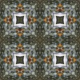 Modèle sans couture de fond de pin de tuile vert-foncé de place Photo stock
