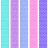 Modèle sans couture de fond de point de polka avec les rayures bleues lilas roses Vecteur illustration stock