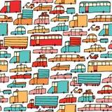 Modèle sans couture de voitures de bande dessinée Illustration Libre de Droits