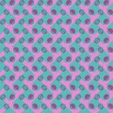 Modèle sans couture de fond des cercles colorés et des cellules illustration libre de droits