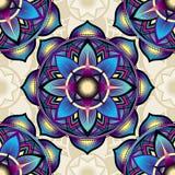 Modèle sans couture de fond des symboles de mandala Image stock