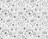 Modèle sans couture de fond du championnat 2018 russes du football du football de coupe du monde Photos stock