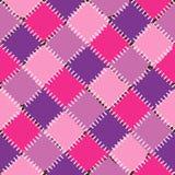 Modèle sans couture de fond multicolore de patchwork Images stock