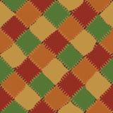 Modèle sans couture de fond multicolore de patchwork Photographie stock libre de droits