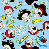 Modèle sans couture de fond sans couture de pirates illustration libre de droits