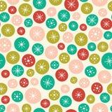 Modèle sans couture de fond de vecteur des cercles et des étoiles lumineux de Noël Un idéal extérieur de fond de conception de mo illustration libre de droits