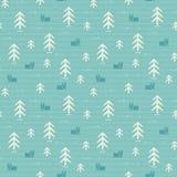 Modèle sans couture de forêt Photo stock