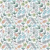 Modèle sans couture de forêt dans des couleurs en pastel Photos stock