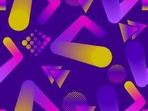 Modèle sans couture de forme liquide de couleur Éléments géométriques Memphis, style des années 80 Objets colorés modernes Vecteu illustration de vecteur
