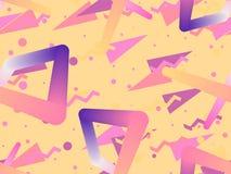 Modèle sans couture de forme liquide de couleur Éléments géométriques Memphis, style des années 80 Objets colorés modernes Vecteu illustration stock