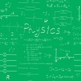 Modèle sans couture de formules de physique Photos stock