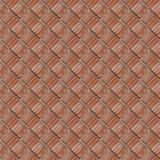 Modèle sans couture de fragment de mur en pierre rouge photos stock