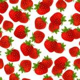 Modèle sans couture de fraise Image libre de droits